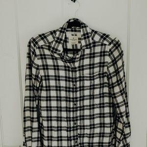 Soft Plaid American Eagle Button Up Shirt